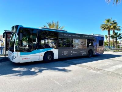 Autobus publicitario de Gran lateral + Simple en San Pedro de Alcántara, Málaga