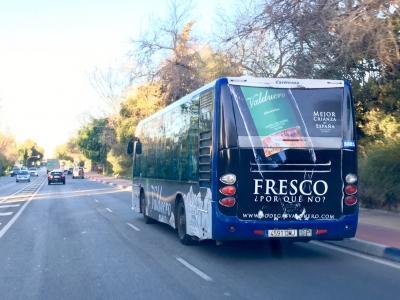 Autobus publicitario de Urban Simple en Málaga, Málaga