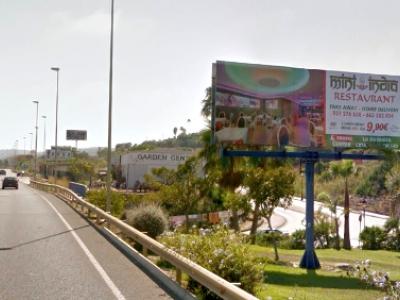Monoposte publicitario de 8x3 m en Manilva, Málaga