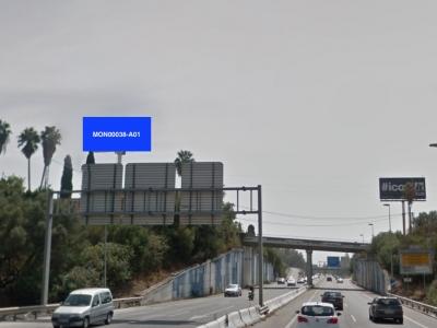 Monoposte publicitario de 12x5 m en Marbella, Málaga