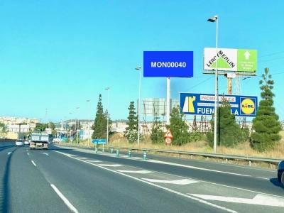 Monoposte publicitario de 10.4x5 m en Fuengirola, Málaga