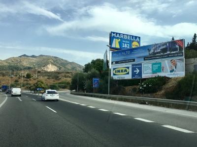 Valla publicitaria de 16x3 m en Marbella, Málaga