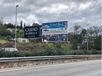 Valla publicitaria de 12x6 m en Marbella, Málaga