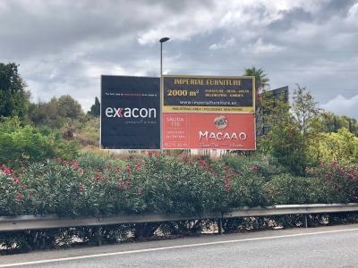 Valla publicitaria de 10.4x4 m en Marbella, Málaga