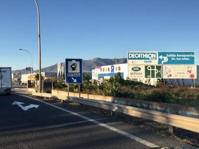 Valla publicitaria de 8x3 m en Málaga, Málaga
