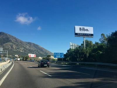 Monoposte publicitario de 10.4x5 m en Benalmádena, Málaga