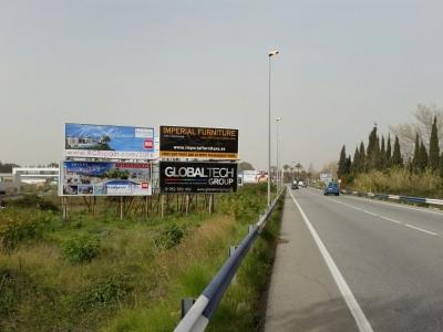 Valla publicitaria de 8x3 m en San Pedro de Alcántara, Málaga