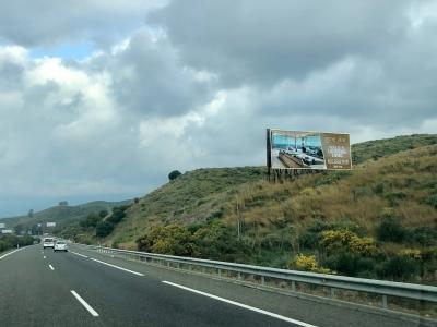 Valla publicitaria de 16x6 m en Marbella, Málaga