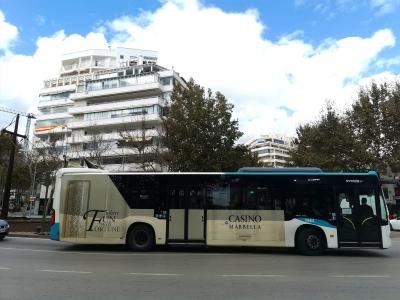 Autobus publicitario de Gran lateral + Simple en Mijas, Málaga