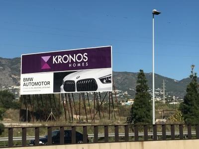 Valla publicitaria de 16x3 m en Fuengirola, Málaga