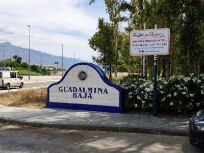 Poste publicitario de 150x100 cm en San Pedro de Alcántara, Málaga