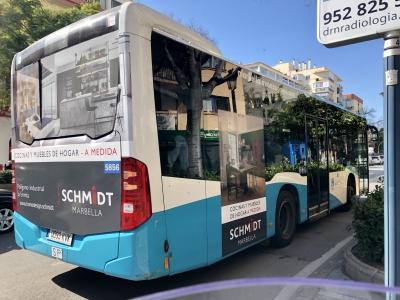 Autobus publicitario de Urban Simple en Cártama, Málaga