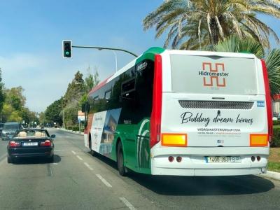 Autobus publicitario de Gran lateral + Simple en Málaga, Málaga