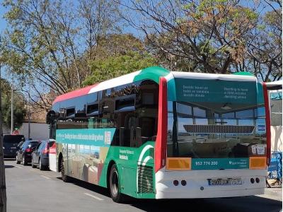Autobus publicitario de Gran lateral + Simple en Algeciras, Cádiz