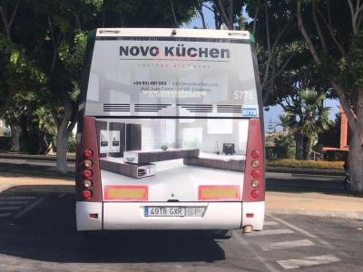 Autobus publicitario de Gran lateral + Simple en Estepona, Málaga